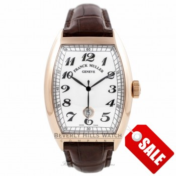 Franck Muller Cintree Curvex Vintage 18k Rose Gold 39MM White Dial 8880 B SC DT VIN - K3SFZF - Beverly Hills Watch Company Watch Store