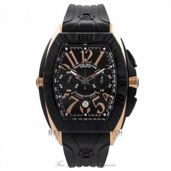 Franck Muller Conquistador GP Chronograph Gents 18k Rose Gold 9900 CC DT GPG GR2TXK - Beverly Hills Watch Company Watch Store