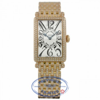 Franck Muller Long Island 18k Rose Gold Diamond Bezel Bracelet 902QZ D B FH6XJ9 - Beverly Hills Watch Company