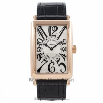 Franck Muller Long Island 18k Rose Gold Quartz 1002 QZ QQDIQB - Beverly Hills Watch Company Watch Store