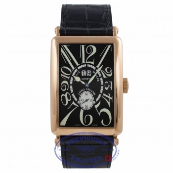 Franck Muller Long Island Grand Date 18k Rose Gold Black Dial 1200 S6 GG 22WFTY - Beverly Hills Watch Company Watch Store
