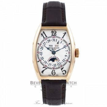 Frank Muller Master Calendar Moonphase 18k Yellow Gold Silver Dial 5850 MC L KI21A5 - Beverly Hills Watch Company Watch Store