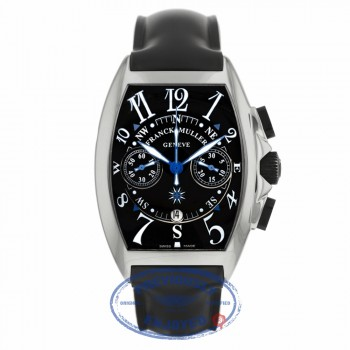 Franck Muller Master of Complications Mariner Stainless Steel Chronograph Black Dial Black Rubber Strap 8080 CC AT MAR 1M08ND  - Beverly Hills Watch Company