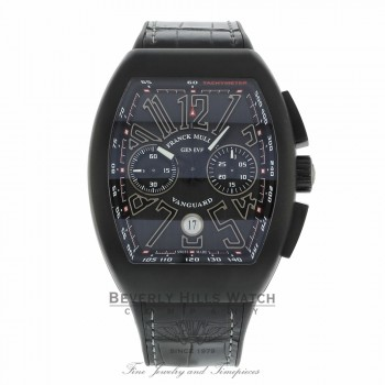 Franck Muller Vanguard All Black PVD Case All Black Dial Arabic V45CCBRNRTTB 5R51UN  - Beverly Hills Watch
