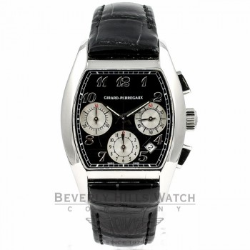 Girard Perregaux Richeville Chronograph Stainless Steel Watch 27650.0.11.6871 Beverly Hills Watch Company