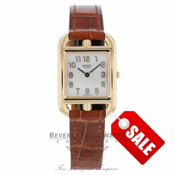 Hermes Cape Cod Ladies 18k Rose Gold Mop Dial CC1285212Z/ET 3F6PUA - Beverly Hills Watch Company