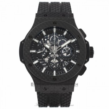 Hublot Big Bang Aero Bang Carbon Fiber 44MM Automatic Rubber Strap 42 Hour Power Reserve 311.QX.1124.RX VQGB3V - Beverly Hills Watch Store