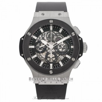 Hublot Big Bang Aero Bang 44MM Stainless Steel Ceramic Bezel 311.SM.1170.GR 4BVECQ - Beverly Hills Watch Company Watch Store