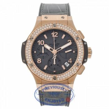 Hublot Big Bang Earl Gray Rose Gold 41mm Case Diamond Bezel Tantalum Color Dial Automatic Chronograph Watch 341-PT-5010-LR-1104 - MCSR4G