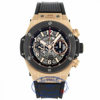 Hublot Big Bang Unico Chronograph 45MM Rose Gold Skeleton Dial 411.OM.1180.RX D2NE05 - Beverly Hills Watch Company