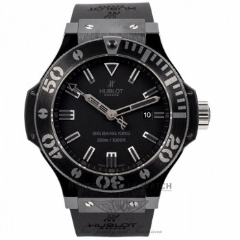 Hublot Big Bang King Black Magic 48MM Black Ceramic Black Dial 322.CK.1140.RX V5C54H - Beverly Hills Watch Company Watch Store
