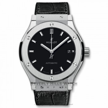 Hublot Classic Fusion Black Dial Black Leather 511.NX.1171.LR 86F9FT - Beverly Hills Watch