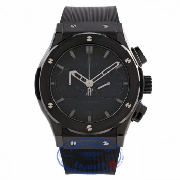 Hublot Classic Fusion All Black Chronograph Black Ceramic Case and Bezel Black Dial Automatic Watch 521.CM.1110.RX RHYW8D - Beverly Hills Watch Store
