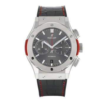 Hublot Classic Fusion Chronograph 45mm Titanium Black Alligator Strap Racing Grey Dial 521.NX.7070.LR.PLP15 EE79EH - Beverly Hills Watch