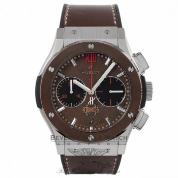 Hublot Classic Fusion Forbidden X 45mm Titanium & Ceramic Tabacco Dial Black Rubber Tabacco Color Calf Skin Strap 521.NC.0589.VR.OPX14 59317L - Beverly Hills Watch Store
