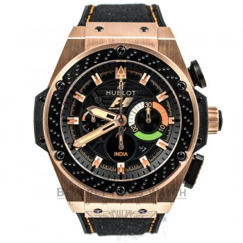 Hublot F1 'India' King Power Rose Gold Chronograph Watch 703.OM.1138.NR.FMI11 Beverly Hills Watch Company Watches