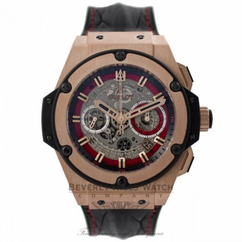 Hublot King of Russia II 48MM 18k Rose Gold Black Leather Strap 701.OX.0113.HR RUS13 5FH2KV - Beverly Hills Watch Company Watch Store