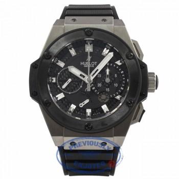 Hublot King Power Chronograph Zirconium 48MM Titanium Black Ceramic Bezel 709.ZM.1770.RX 2RKR8R - Beverly Hills Watch Store Watch Company