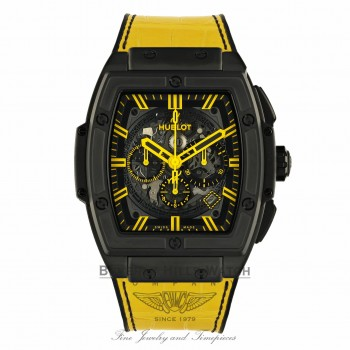 Hublot Spirit Of Big Bang All Black and Yellow Chronograph 45mm 601.CY.0190.LR QHFT09  - Beverly Hills Watch