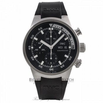 IWC Aquatimer 42MM Stainless Steel Chronograph Black Dial Black Rubber Strap IW371928 0CQH8E - Beverly Hills Watch Company Watch Store