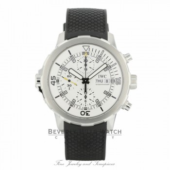 IWC Aquatimer 44mm Chronograph Silver Dial Black Rubber IW376801 FRPVPW - Beverly Hills Watch