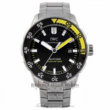 IWC Aquatimer 44MM Stainless Steel Black Dial Black / Yellow Bezel IW356808 ELR2YE - Beverly Hills Watch Store Watch Store