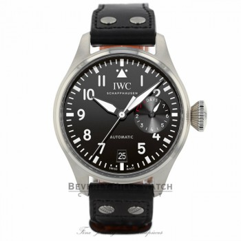 IWC Big Pilot Black Dial Seven Day Reserve Stainless Steel IW500912 1WNZ0V - Beverly Hills Watch Company