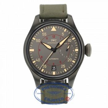 IWC Big Pilot Top Gun Miramar Titanium Anthracite Dial Automatic Green Fabric IW501902 5E99MK - Beverly Hills Watch Company