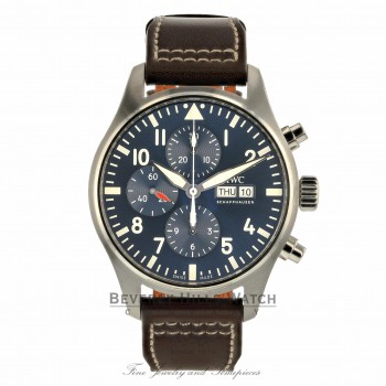 IWC Pilot 43mm Le Petit Prince Chronograph Stainless Steel IW377714 8T0H04