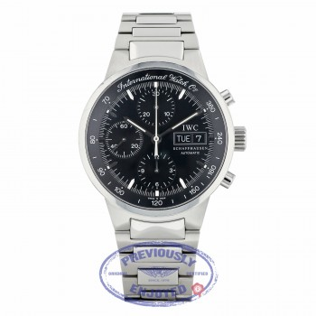 IWC GST Chronograph 40MM Automatic Stainless Steel Black Dial IW3707 H0KDPF - Beverly Hills Watch Company
