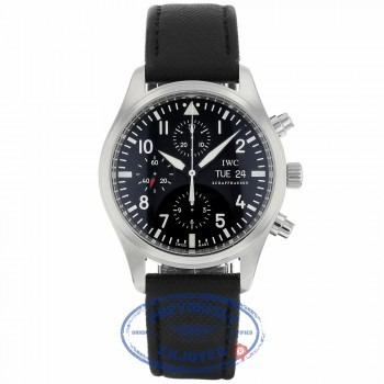 IWC Classic Pilot Chrono 42MM Automatic Steel Black IW371701 14DPXJ - Beverly Hills Watch Company