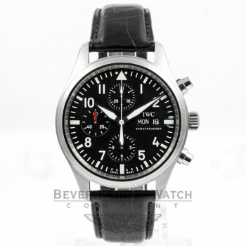 IWC Pilot Day Date Chronograph Watch IW371701 Beverly Hills Watch Company
