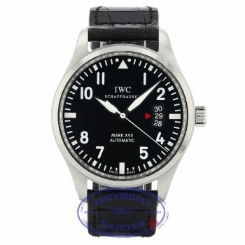 IWC Pilots Mark XVII 41MM Stainless Steel Black Dial IW326501 YZMF90 - Beverly Hills Watch Company