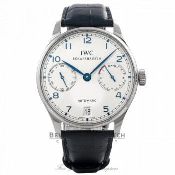 IWC Portuguese 7 Day Power Reserve Stainless Steel 42MM IW500107 21DDJN- Beverly Hills Watch Company Watch Store