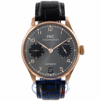 IWC Portuguese Chronograph 7 Day Power Reserve Slate Dial IW50012.25 UWXVLK - Beverly Hills Watch Company Watch Store