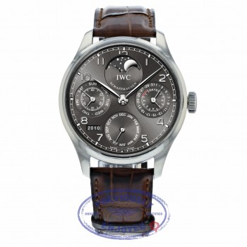 IWC Portuguese Automatic Perpetual Calendar Moonphase 44mm IW502307 0FD787 - Beverly Hills Watch Company