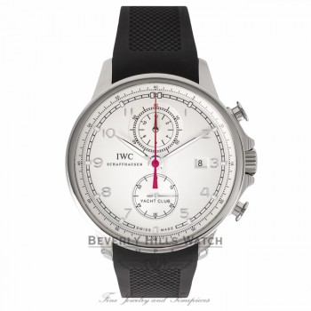 IWC Portuguese Yacht Club Chronograph 45MM Stainless Steel IW390211 1WBUVG - Beverly Hills Watch Company Watch Store
