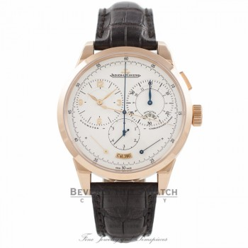 Jaeger LeCoultre Duometre Chronographe 42MM 18k Rose Gold Manual Wind Q6012521 ZLN1RF - Beverly Hills Watch Company Watch Store
