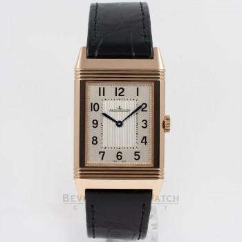 Jaeger LeCoultre Grande Reverso Ultra-Thin Manual Wind Leather Strap Watch 278.25.20 Beverly Hills Watch Company Watch Store