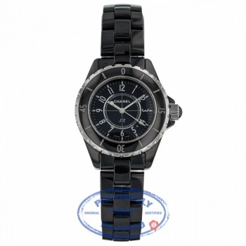 Chanel J-12 Quartz 33mm Black Ceramic H0682-J12 - Beverly Hills Watch