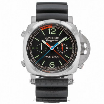 Panerai Luminor 1950 3 Day Chrono Flyback Regatta Black Dial PAM00526 6VZEY4 - Beverly Hills Watch