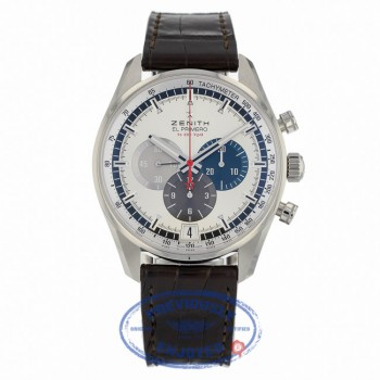 Zenith El Primero Chronograph Silver Dial Brown Leather 03204040069C494 - Beverly Hills Watch