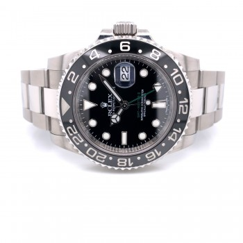 Rolex GMT Master II 40mm Stainless Steel Black Dial Black Ceramic Bezel 116710 LNDLEW - Beverly Hills Watch