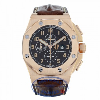 Audemars Piguet Royal Oak Offshore Gold Rose Chronograph Limited Edition 26158OR.OO.A801CR.01 XDVCU1 - Beverly Hills Watch Company