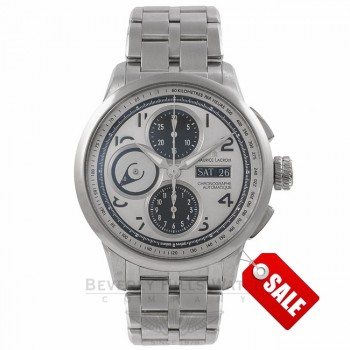 Maurice Lacroix Gents Masterpiece Stainless Steel Silver Dial MP6348-SS002-12E 13390 - Beverly Hills Watch Company Watch Store