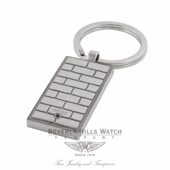 Montblanc Key Ring Stainless Steel Blue Sapphire 109402 L3XSWZ - Beverly Hills Watch Store