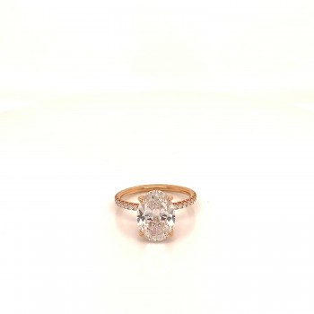 Naira & C Diamond Oval Ring 3.01ct N0PWA9 - Beverly Hills Watch Company