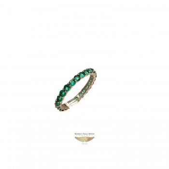 NAIRA & C EMERALD STACKABLE ETERNITY BAND WHITE GOLD NV5UZF