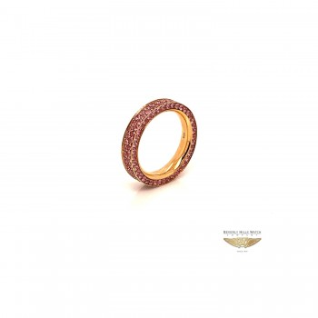 NAIRA & C PINK SAPPHIRE STACKABLE ETERNITY BAND ROSE GOLD 6638-1