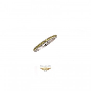 NAIRA & C YELLOW SAPPHIRE STACKABLE ETERNITY BAND WHITE GOLD 2664